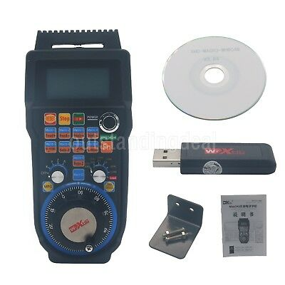 4-Axis CNC MACH3 Wireless Electronic Handwheel Manual Controller USB Handle MPG#