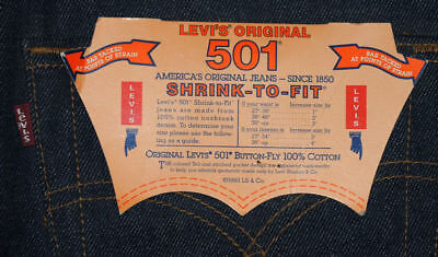 Vintage Levis 501 XX W33L40 NWT San Fran.  Shrink to fit. made in USA