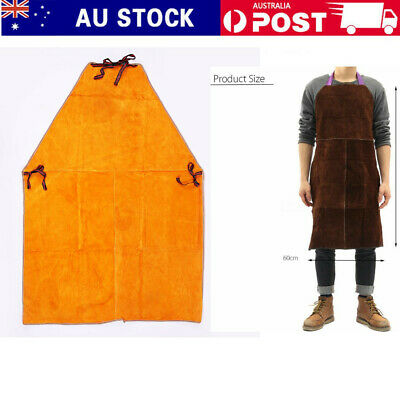 Full Length Cow Leather Welder Heat/Fire Resistant Protection Apron 60x90CM
