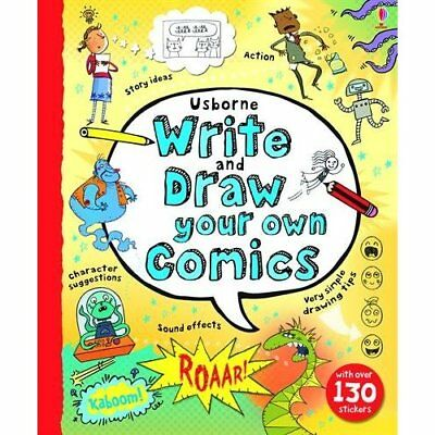 Write and Draw Your Own Comics Louie Stowell Hardback 1409564256  School Books