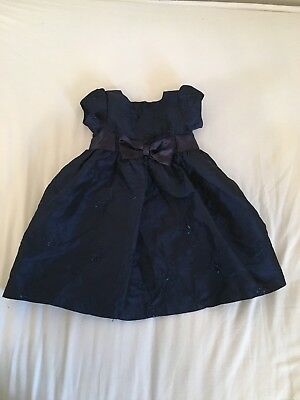 9-12 Months Baby Girls Navy Blue Wedding Party Christmas Dress