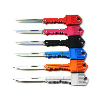 Fishing Camping Outdoor Survival Pocket Folding Blade Key Knife Small Portable