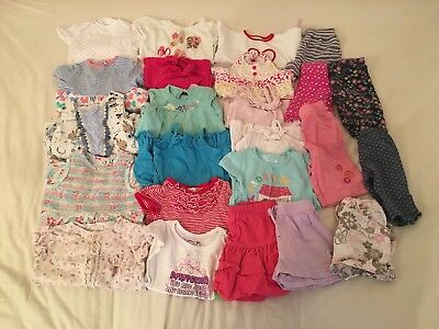 9-12 Months Baby Girls Clothes Bundle Tops Dresses Trousers (Ref:220)