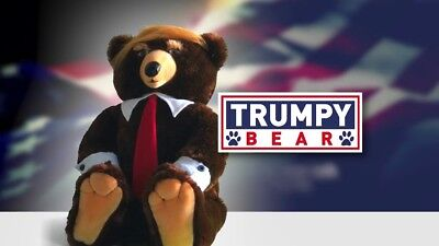 """Trumpy Bear 22"""" - Make Christmas Great Again! New With Cape & Certificate"""