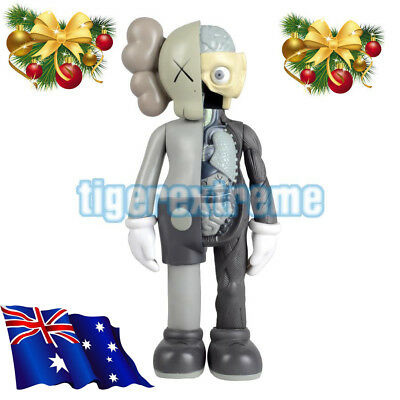 "New 16"" Original Fake KAWS Half Dissected Companion Action Figures Toy Grey"