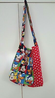 Handmade Library/Tote/Market Bag - Disney, Minnie Mickey Mouse, Donald Duck