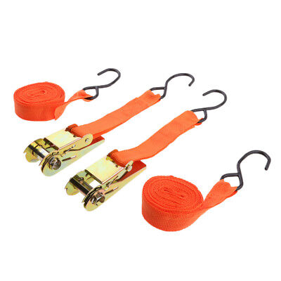 Ratchet Tie Down With Hook Cargo Strap Quick Release Ties With Tensioner