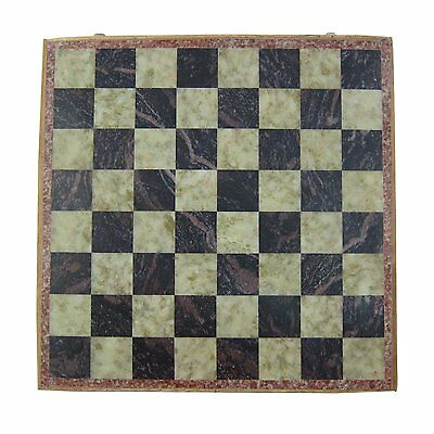 """2pc 12 X 12"""" Inches Handmade Marble Soap stone Wooden Chess Pieces And Board Set"""