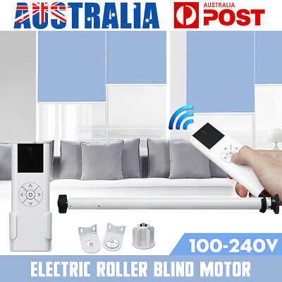 110V-240V Electric Roller Shade Tubular Motor Blind Curtain Remote Control DIY