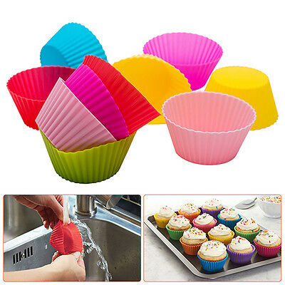 Silicone Cup Cake Muffin Chocolate Cupcake Cases Baking Cup Cookie Mould 4 Shape