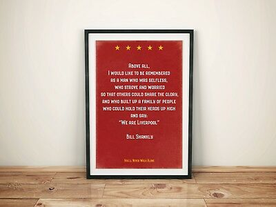 Bill Shankly quote Liverpool FC Anfield A4 Retro style Picture Art Poster Print