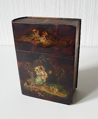 Antique Vintage Lacquer Book Box