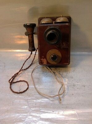 Original Vintage Wall Telephone Separate Ear & Mouth Type + Extra Copy Phone