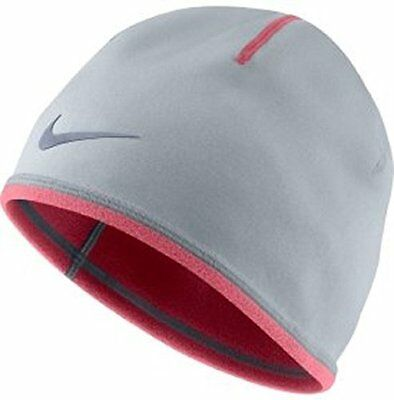 Nike Youth Unisex Cold Weather Beanie ~ Light Charcoal w/ Heather Pink~ NWT