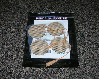 2 Inch TAN REPLACEMENT ELECTRODE MASSAGE PADS For EMS 7500 TWIN STIM INTENSITY