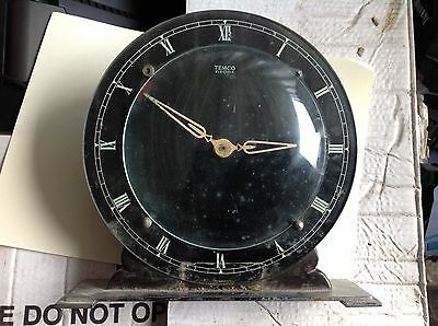 Rare 1930's Temco Art Deco Modernist Electric Mantle Clock. Needs Power Cord