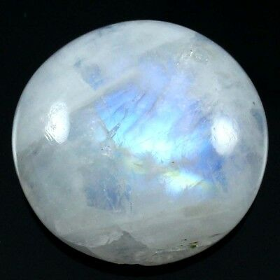 29.60 cts Natural Nice Designer Rainbow Moonstone Cabochon Round Loose Gemstone