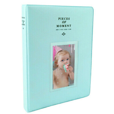 Photo Album For Fuji Instax Mini Prints Holds 128 Photos Ice Blue New!