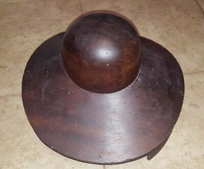 Gibson Girl Victorian Wood Hat Black Millinery Antique 811 Grand Panrex Chicago