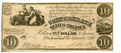 1861    Confederate Currency   $20