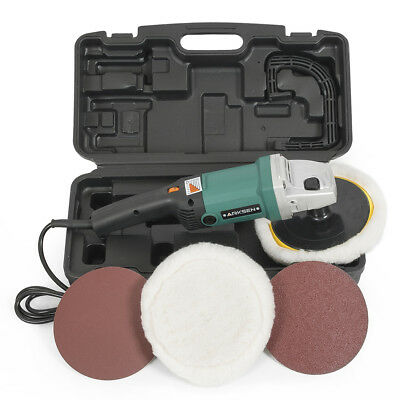 """7"""" Electric Polisher Buffer Sander 6 Speed 3100RPM Auto Boat Paint Detail w/Case"""