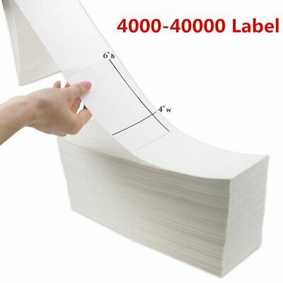 "Fanfold 4"" x 6"" Direct Thermal Barcode Label - Zebra Compatible Free Shipping"