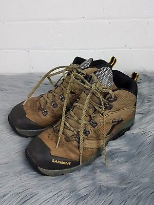 Garmont Mens Hiking Shoes Sz 8 Leather Gortex Comfort Boots Brown Outdoors Camp