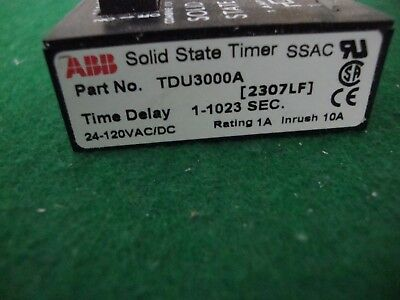 ABB SSAC Solid State Timer TDU3000A Time Delay new in box