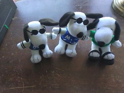 Collectible Metlife Peanuts Snoopy Plush Lot - With Free shipping & Tracking