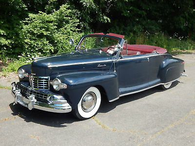 1948 Lincoln 876H Series convertible coupe 1948 Lincoln Convertible Coupe