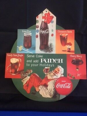 Coca-Cola Hanging Double-Sided Christmas Ad