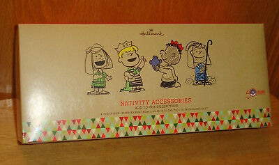 Hallmark Peanuts 50th Nativity Accessories 4 additional pieces for small sets