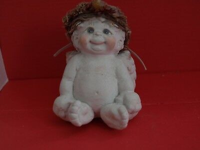 "DREAMSICLES ""Bright Eyes"" DC108 ANGEL~CHERUB FIGURINE Cast Art @1994, Signed @96"