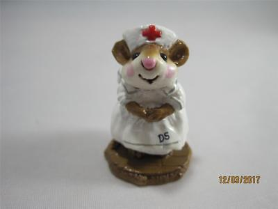 Wee Forest Folk Mousey Nurse - White Dress with Initials - Retired WFF