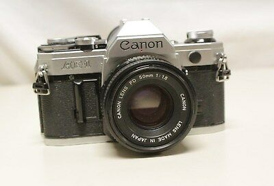 Vintage Canon AE-1 ,FD 50mm 1:1.8 Lens Camera made in Japan