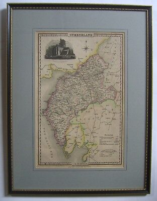 Cumberland: antique map by Pigot & Co, c1831
