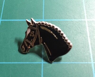Horse Head Lapel Pin - Black #2