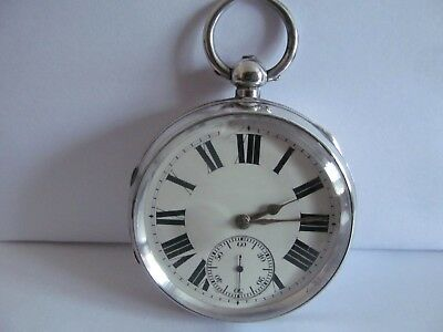 1900 pocket watch solid silver Chester in very good condition and working