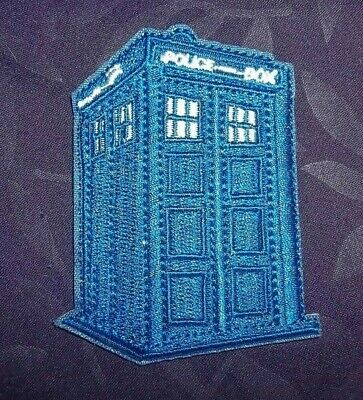 Dr. Who Tardis Patch Police Box Bbc Sew/ Iron Diy Tom Baker