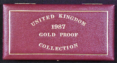 1987 Gold Two Pound, Sovereign and Half-Sovereign Coins in Case with COA