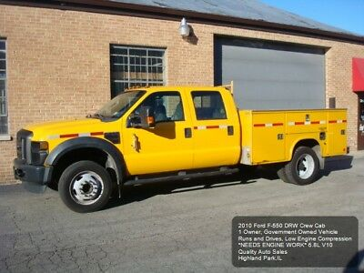 2010 Ford F-550 XL CREW CAB DRW 2010 FORD F-550 F550 UTILITY SERVICE TRUCK DRW NEEDS ENGINE WORK 6.8L V10 1OWNER