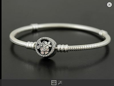 Authentic Pandora Silver Poetic Blooms Clasp Bracelet 590744CZ  *Full Packaging*