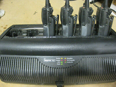 4 - Motorola XTS 2500 Walkie Talkies & Impres Adaptive Charger 6 port charging b
