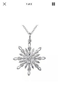 Hot Diamonds Snowflake Necklace DP382 NEW