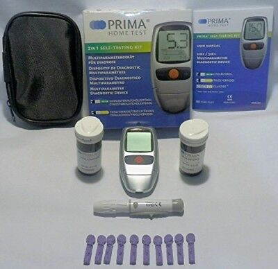 Cholesterol and Triglycerides 2IN1 Test Meter Kit. FDA/CE Approved.!!! Home Test