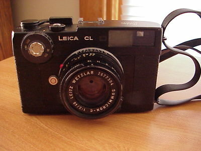 Vintage Leica  CL Wetzlar Summicron-C 1:2/40 Camera & Lens Made In Germany
