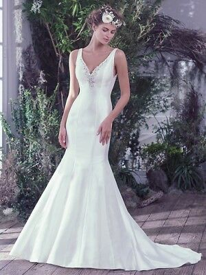 Maggie Sottero Roan Wedding Dress 10 Ivory
