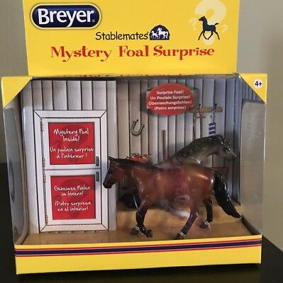 Breyer Stablemates Horse Mystery Foal Surprise with Reiner and Dungaree NIB