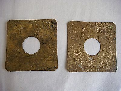 Antique Pair of BOBECHES bronze Pattern asian - For candlestick - VB2405