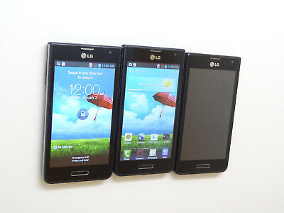 Lot of 3 LG Optimus F3 P659 T-Mobile Smartphones Power On Good LCD AS-IS GSM